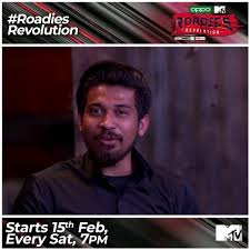 VIPIN SAHU- The Paragliding man as a contestant of the Roadies Revolution.