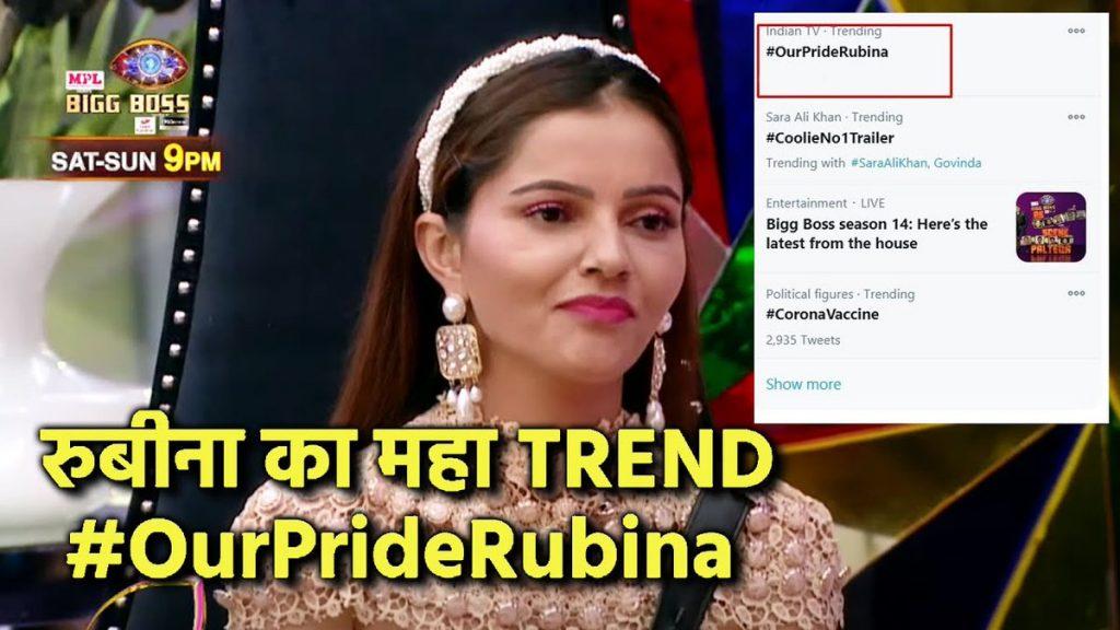 BIGG BOSS 14: Rubina Dilaik makes a new BB record with more than 3 lakh tweets