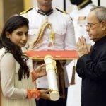 Mithali Raj receiving Padma Shri 150x150 1