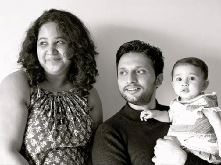 Mohammed Zeeshan Ayyub with his wife