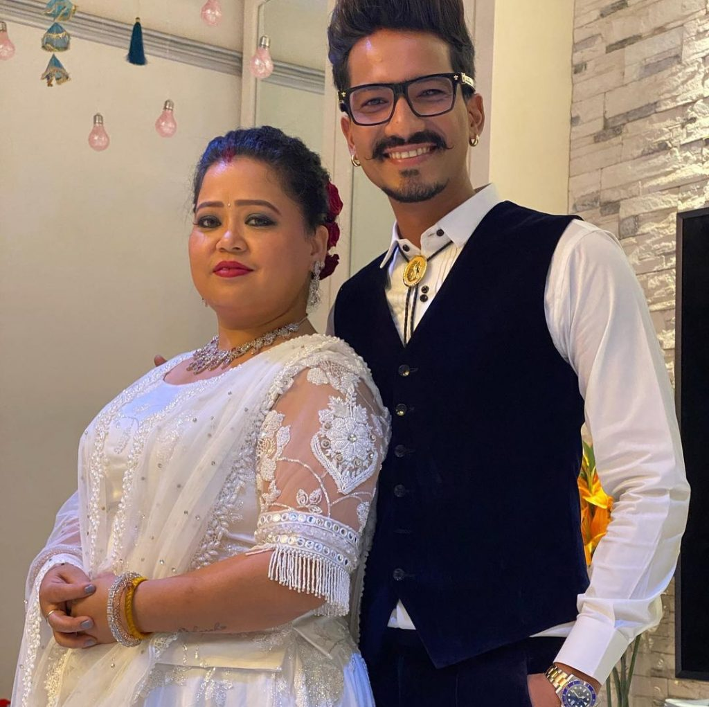 Haarsh Limbachiyaa with his wife Bharti Singh