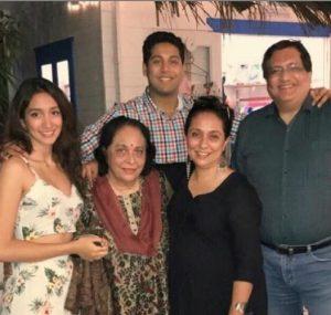 Shreya Choudhury with her family.