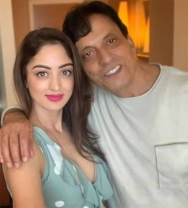 Sandeepa Dhar with her father.