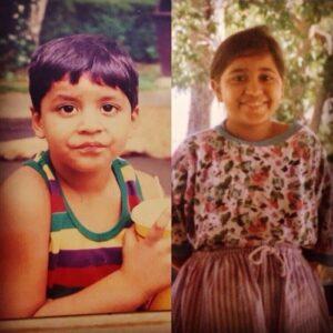 Shweta Tripathi childhood photos