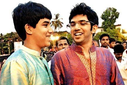 Aaditya Thackeray with his brother Tejas Thackeray