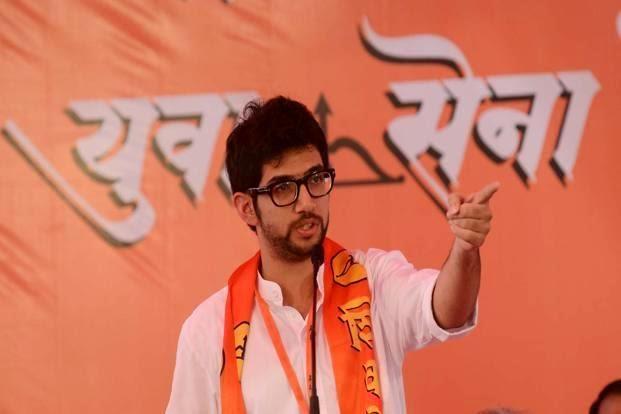 Aditya Thackeray at a Yuva Sena rally