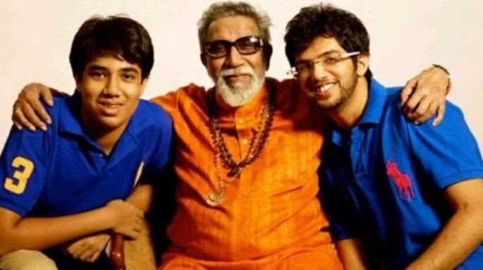 Bal Thackeray with Tejas and Aditya Thackeray