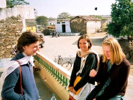 Esther Duflo centre with her mother Violaine Duflo left
