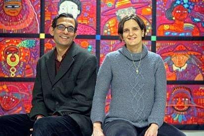 Esther Duflo with Abhjit Banerjee