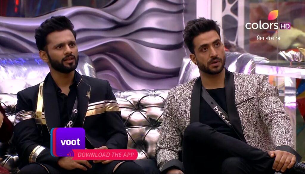 Rahul Vaidya and Aly Goni in Bigg Boss 14