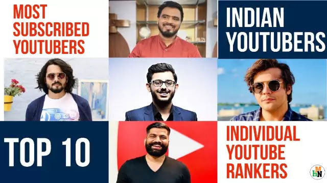 AAWho is No.1 Youtuber of India Top 10 Indian Youtubers Carryminati